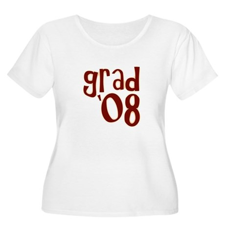Grad 08 - Brown - Women's Plus Size Scoop Neck T-