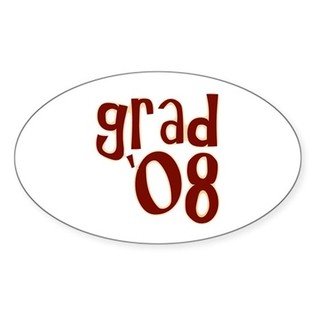 Grad 08 - Brown - Oval Sticker