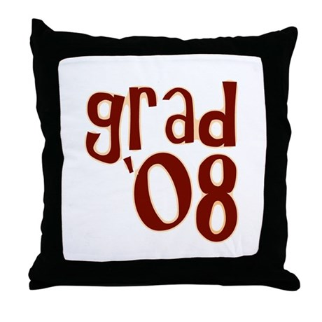Grad 08 - Brown - Throw Pillow