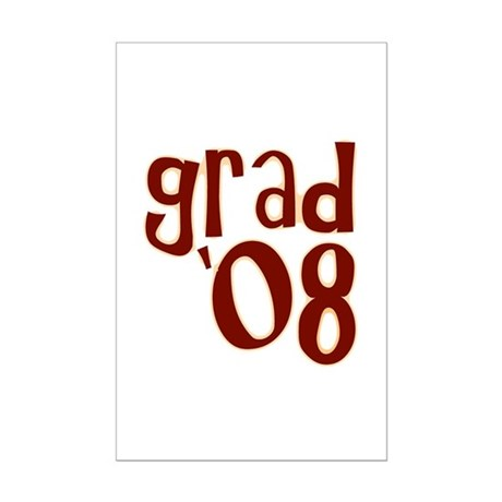 Grad 08 - Brown - Mini Poster Print