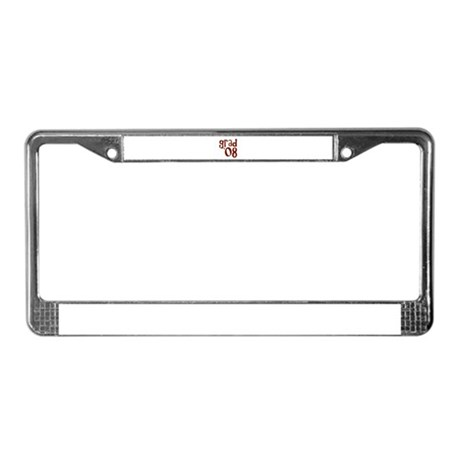 Grad 08 - Brown - License Plate Frame