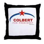 Colbert for President Throw Pillow
