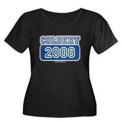 Colbert 2008 Women's Plus Size Scoop Neck Dark T-S