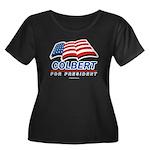 Colbert for President Women's Plus Size Scoop Neck