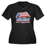 Colbert for President Women's Plus Size V-Neck Dar