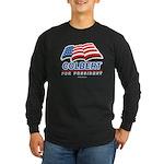Colbert for President Long Sleeve Dark T-Shirt