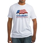 Colbert for President Fitted T-Shirt