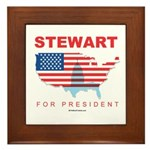 Stewart for President Framed Tile