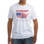 Stewart for President Fitted T-Shirt