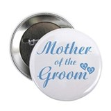 Mother of Groom Blue Button