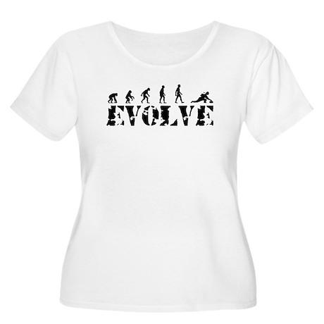 Curling Caveman Women's Plus Size Scoop Neck T-Shi