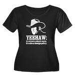 yeehaw Women's Plus Size Scoop Neck Dark T-Shirt