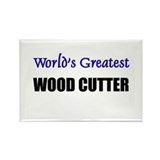 Worlds Greatest WOOD CUTTER Rectangle Magnet (10 p