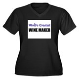 Worlds Greatest WINE MAKER Women's Plus Size V-Nec