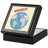 Namibia Map Keepsake Box