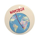 Namibia Map Ornament (Round)