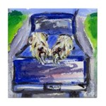 Wheaten truck ride Tile Coaster