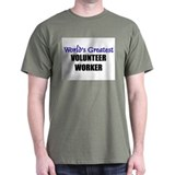 Worlds Greatest VOLUNTEER WORKER T-Shirt