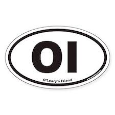 O'Leary's Island OI Euro Oval Decal