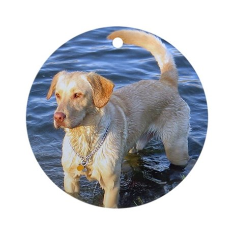 Yellow Lab Madison Ornament (Round)