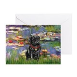 Lilies (#2) & Black Pug Greeting Cards (Pk of 20)