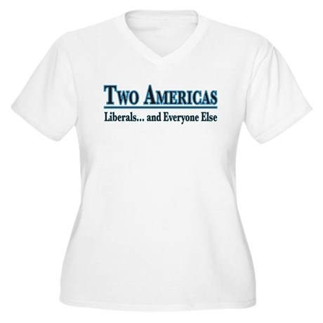 Two Americas Women's Plus Size V-Neck T-Shirt