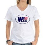 W-AR! Women's V-Neck T-Shirt