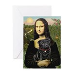 Mona's Black Pug Greeting Card