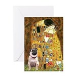 The Kiss / Pug Greeting Card