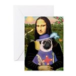 Mona & Sir Pug Greeting Cards (Pk of 20)