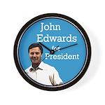 John Edwards for President Wall Clock