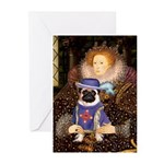 The Queen & Sir Pug Greeting Cards (Pk of 20)