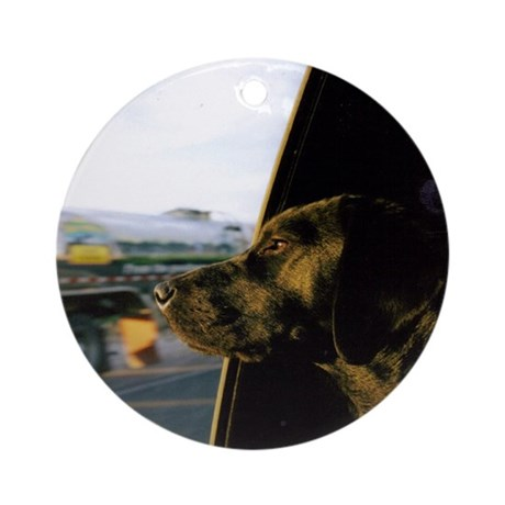 Black Lab Dixie Ornament (Round)