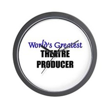 Worlds Greatest THEATRE PRODUCER Wall Clock