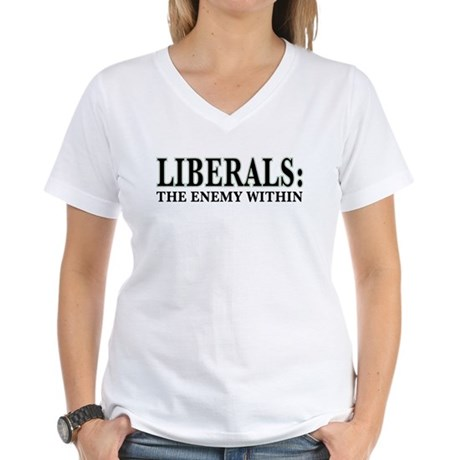 Liberals Women's V-Neck T-Shirt