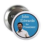 Ten John Edwards for President Buttons