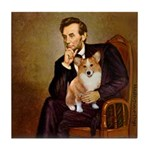 Lincoln's Corgi Tile Coaster