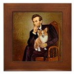 Lincoln's Corgi Framed Tile