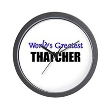 Worlds Greatest THATCHER Wall Clock