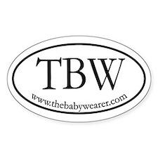 TBW Oval Oval Sticker