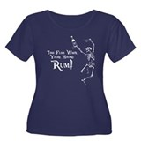 Time Flies/Having Rum Women's Plus Size Scoop Neck