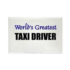 Worlds Greatest TAXI DRIVER Rectangle Magnet (10 p