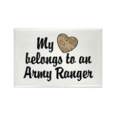 My Heart Belongs To an Army Ranger Rectangle Magne