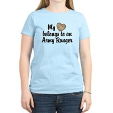 My Heart Belongs To an Army Ranger T-Shirt