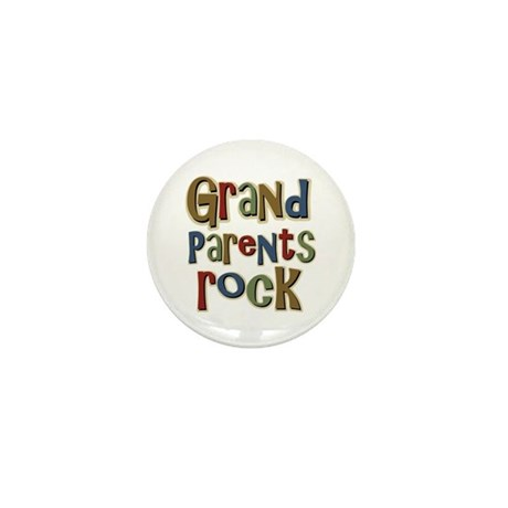 Grandparents Rock Day Holiday Mini Button