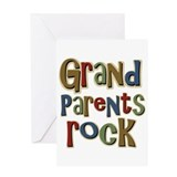 Grandparents Rock Day Holiday Greeting Card