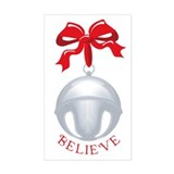 Silver Bell Rectangle Decal
