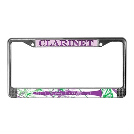 Fantasy Clarinet License Plate Frame