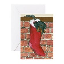 Dachshund Stocking Christmas Cards (10)