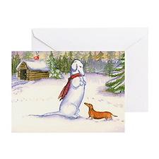 Snow Dachshund Christmas Cards (10)
